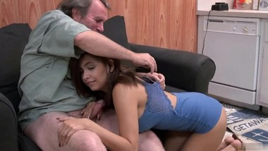 StepDaddy made me cum so hard he lost control and came inside me