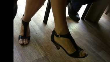 Candid heels at work#9