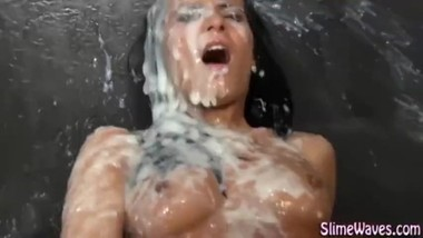 hot babe got a huge cum spirm shot