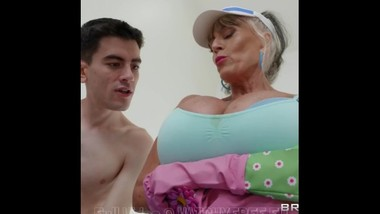 Mature Sally D'Angelo Plow-Her Walking