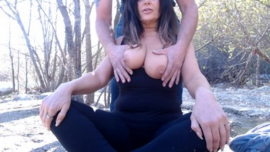MY FIRST outdoor sex video and I get caught!!