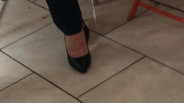 Candid heels at work#7