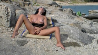 Fingering Orgasm on a Paradise Beach