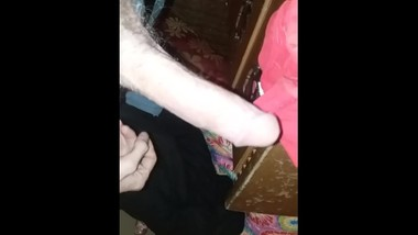 Playing with my big dick while snapchatting w beautiful woman. Huge cock.