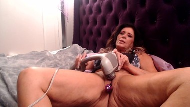 TWO VIBRATORS, one needy pussy