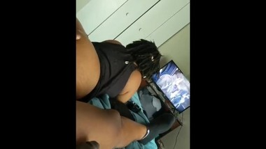 Tight Pussy Dreadhead Fingered in Pussy/Ass Playing Video Game then Fucked