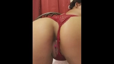 Darkfairys showing off her sexy asian pussy with hidden surprize inside