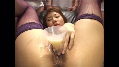Many guys cream on my pussy and collect it and later pour it inside me