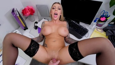 POUNDING KARMA RX HARD ON AN OFFICE TABLE WHILE WATCHING HER TITS BOUNCE