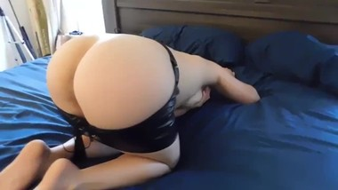 POV leather skirt fuck Wife