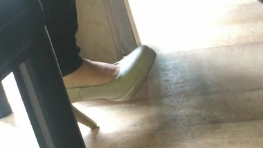 Candid heels at work#2