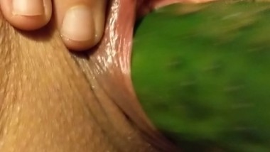 hot wife extreme insertion cucumber and zucchini big pussy lips gaping hole