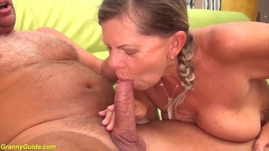 pigtail granny rough big cock fucked