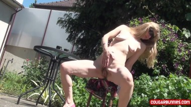 Coffee Upskirts-I drink my coffee and then I strip naked, masturbating some