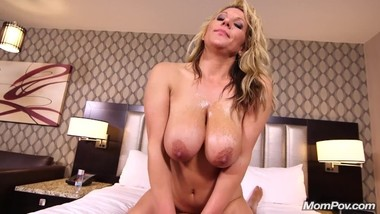 MomPov Meegan - Big natural tits blonde beauty E534