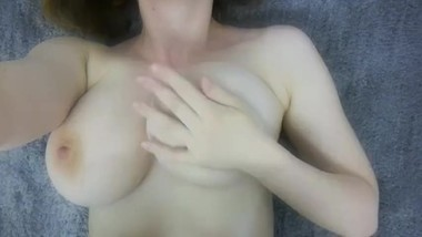 Rose plays with her big boobs and invites you to cum allover her pussy