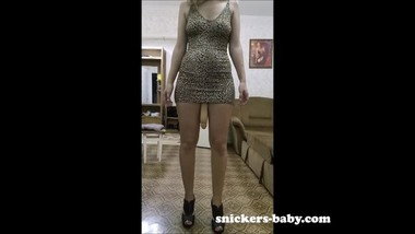 Big ass teen hot sexy girl Tight leopard print dress bonus big dick