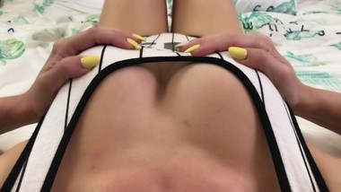 Teasing my nipples until I cum - Female POV masturbation to orgasm 4К