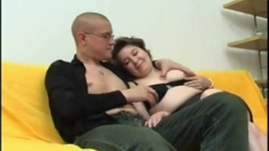 Russian mature and young guy seduced by sex