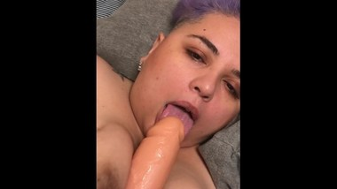 Imagine this was your dick. Latina BBW having fun