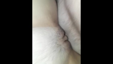 Up close clit rub