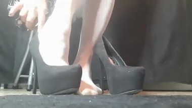 Asmr High Heel Sounds &Stocking Feet Playtime in 2 different High Heels
