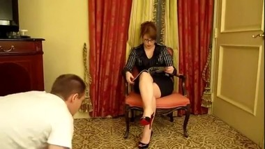 Mistress Katya' In Scene: Katya's Foot Boy Failure