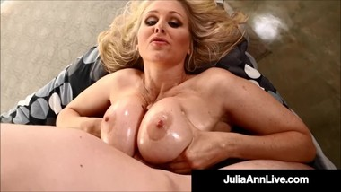 Mega Hot Mommy Milf Julia Ann Gets Tits Fucked By Big Dick!