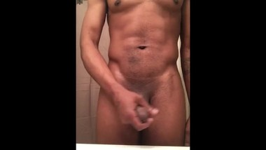 Stroking BBC until I cum (Almost caught by step mom)