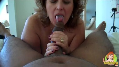 Dawn Marie enjoys a BBC when she visits a friends condo.