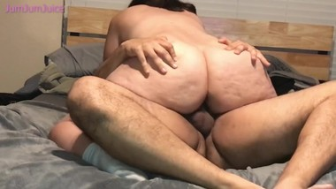 Wife Riding Friend For Creampie  JumJumJuice