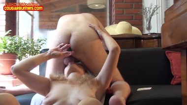 FUCKING HUBBY#1, Imposing StrapOn, Glass Dildo, Queer Couple on the sofa