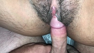 Pounding Her Hairy Pussy