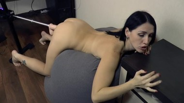 Insatiable milf with sex machine