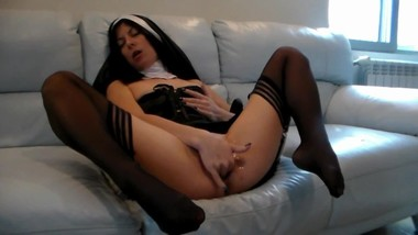 Nun`s Dirty Fantasy - Anal Creampie
