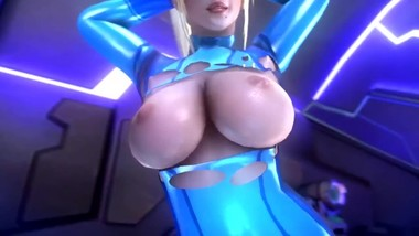 Samus Aran showing her sexy hot body has sound Sound by noname55