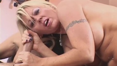 Big Tits Milf Jacks Off Cock Over Her Face
