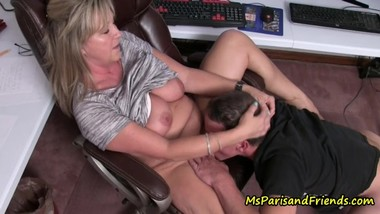 Step-Mommy/Step-Son Caught At The Office