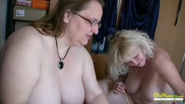 OldNannY Bohunka Threesome Blowjob Mature Action