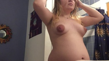 REAL Hidden camera bathroom - 18 Y.O. sister in law - PREGNANT - 26 weeks