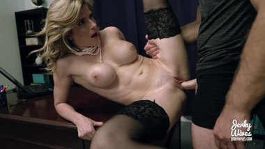 Cory Chase in Office Milf made to Shave her Bush and take a Creampie