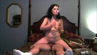 The Slut Wife Rides Cock and Gets A Deep DP With a Huge Cock and Dildo