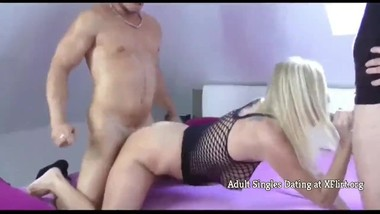 Mature Busty MILF with Big Clit Seduces Two Young Lucky Guys