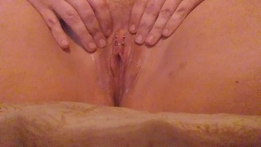 Morning masturbation with this pretty pierced pussy