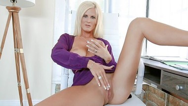 MYLF - Blond Milf Strips and JOI