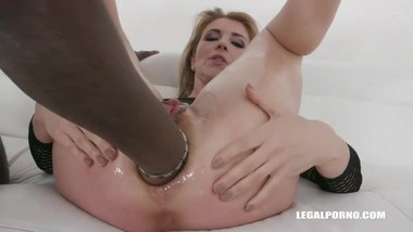 Sindy Rose's wrecked ass filled, fisted and fucked by BBCs - HUGE Prolapse!