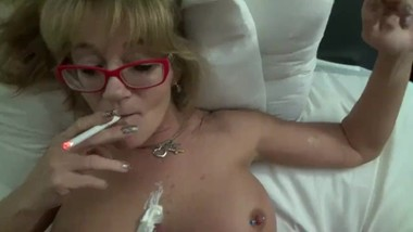 GiGiJuggs PREVIEW Shower Mature Smoking Big Pierced Tits MILF Tittie Fuck