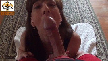 MILF POV Blowjob Oral Creampie Post Cum Suck