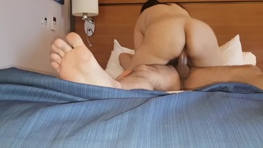 Morning fuck - step mom with step son - hotel room