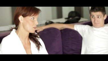 Dirty amateur stepmom try first anal by stepson friend